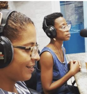 Sayeeda Carter and Regina Keels talk about their show, 'Silence Speaks, Secrets Revealed,' on a St. Croix radio show.