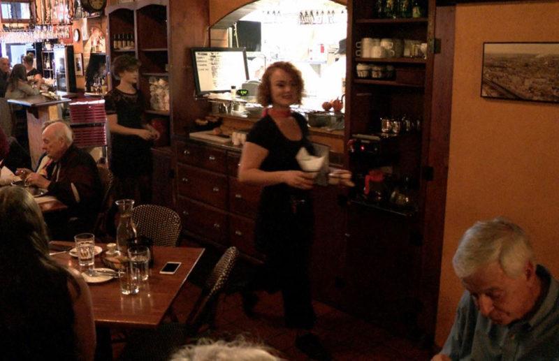 Waitress in a bar