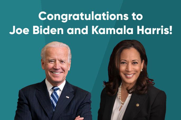Congratulations to Joe Biden and Kamala Harris